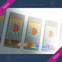 Company hot stamping security sticker label printing