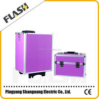 Purple Color Popular Train Aluminum Customized Tool Box Flight Case