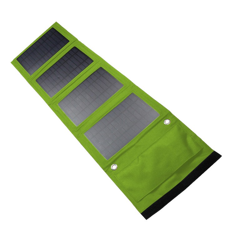 Portable Foldable Solar Charger 14w Outdoor Solar Panel Charger USB Battery Charging For Phone Power Bank Computer charger