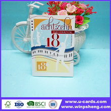 Happy birthday greeting card display/greeting card with boxes