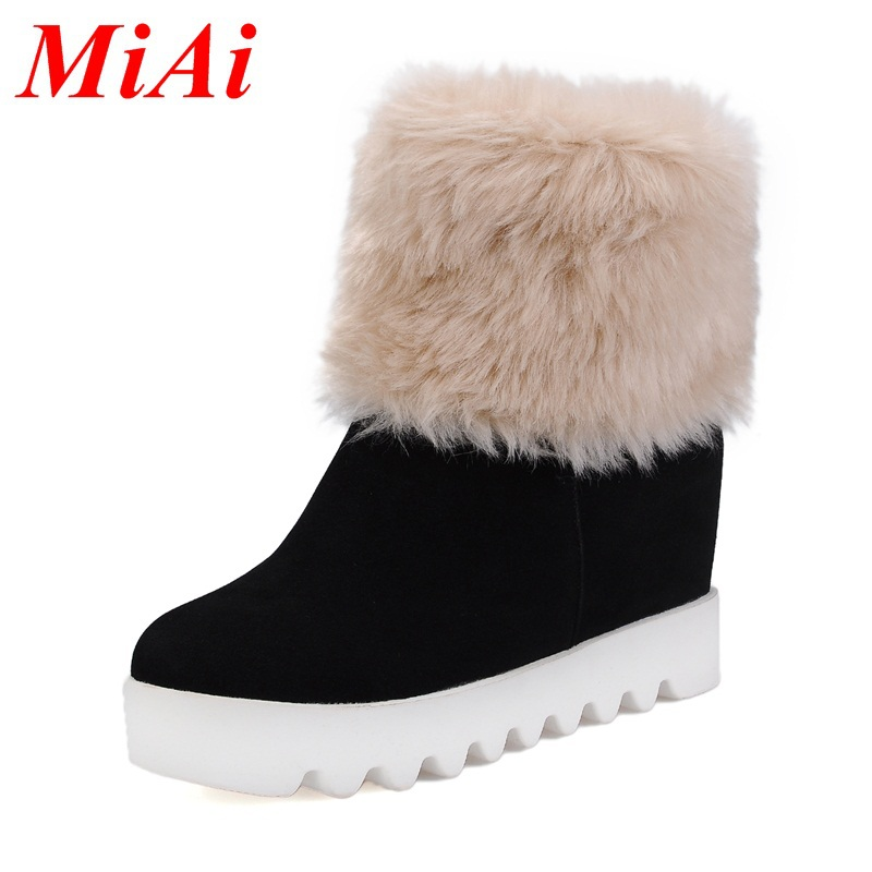 fashion women shoes 2015 new pu leather round toe casual ankle boots shoes women black zipper high heels winter snow boots