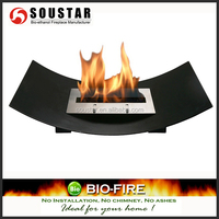 Indoor furniture with ethanol fireplace insert