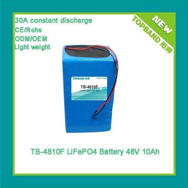 Rechargeable Lithium 10Ah 48V Motercycle Battery Pack Manufacturer