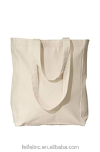 Best design Organic plain canvas school canvas tote bags