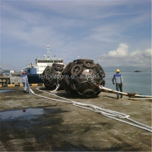 Inflatable marine ship fender / rubber floating buoy