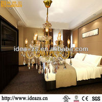 Latest Design Gold Crystal Chandelier in Modern Style for the Coming Christmas