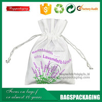 recyclable 4x6inch silk screen printing drawstring cotton bag with logo