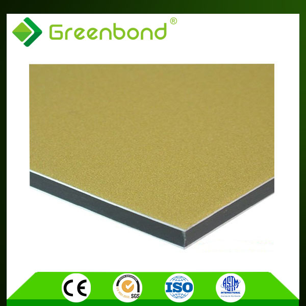Greenbond Both side Bright Silver Aluminum composite panel for construction material