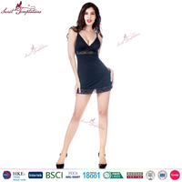 Secret Temptations Brand new style black sexy night dress women sexy lingerie