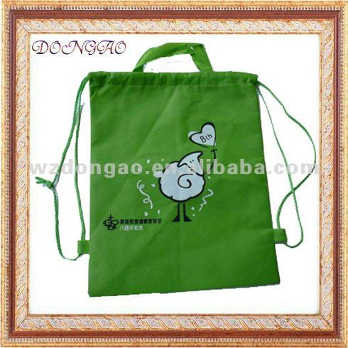 pp non-woven book packing drawstring bag