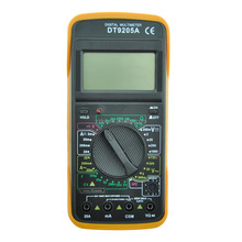 DT9205A LCD Digital Multimeter for Diode Testing / Transistor hFE Measuring Function Low Price Digital Multimeter DT9205A