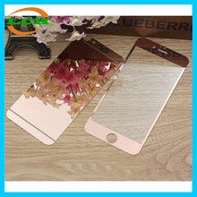 Hot selling electroplate mirror 2pcs tempered glass screen protector for iphone 6 / iphone 6 plus