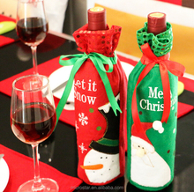 IN stock Wholesale Christmas Ornaments Wine Bottle Set Christmas Decoration Fancy Holiday Wine Bottle Gift Bag