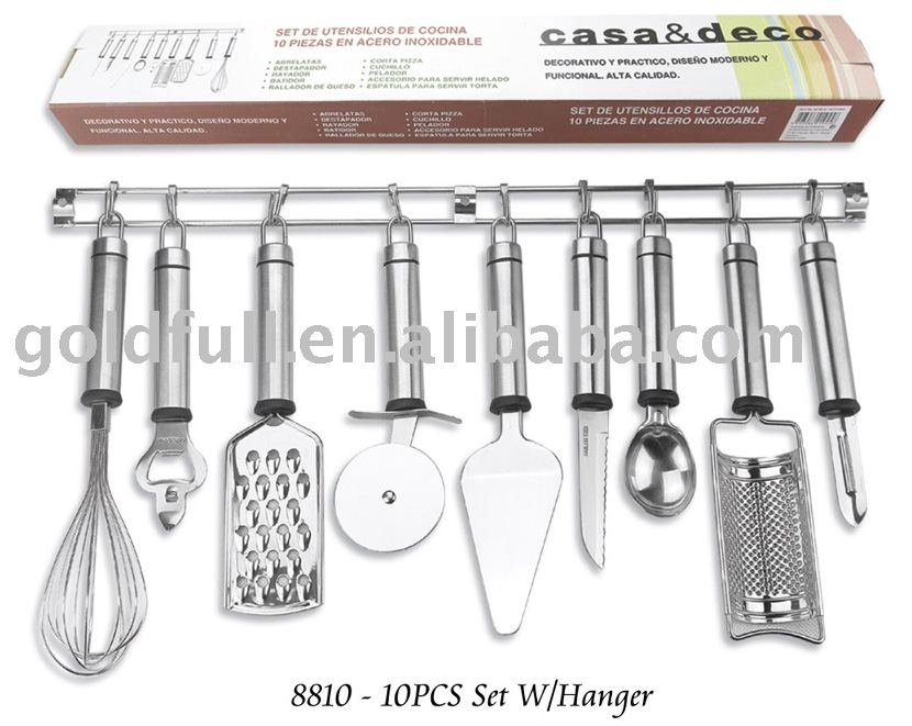 Kitchen Accessories kitchen gadget,kitchen accessories 8810-10pcs set w/hanger - buy