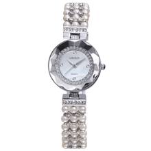 W4790 in Stock Rehinestone Pearl Beads d Fashion Watches