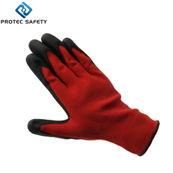 Excellent quality black pu coated touch screen gloves