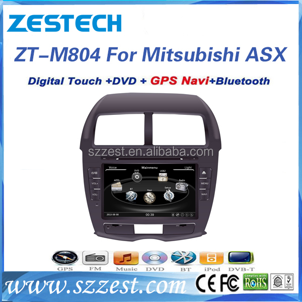 ZESTECH hot sale OEM 8 inch touch sreen car dvd player with GPS Navigation for Mitsubishi ASX