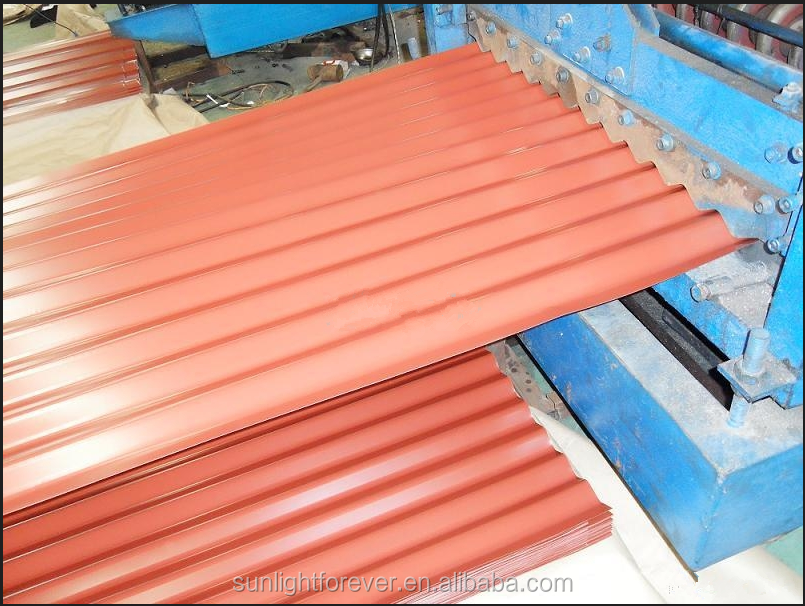 Building material PPGI Colored Metal Roof Tile/Galvanized Corrugated Steel Sheet