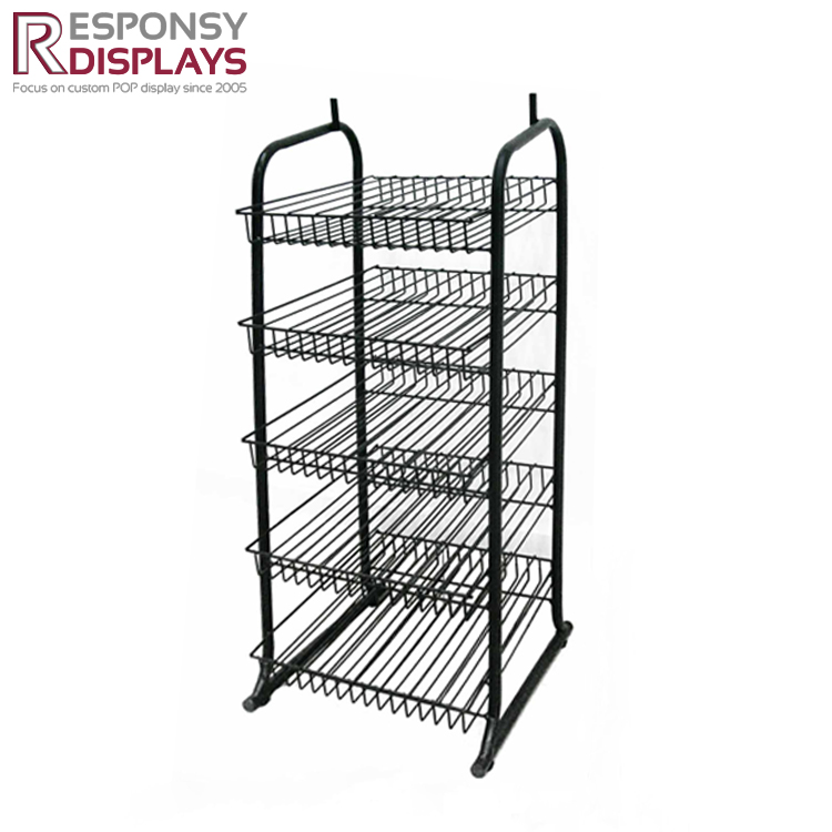 Floor Metal Wire Food Display Stand for Supermarket