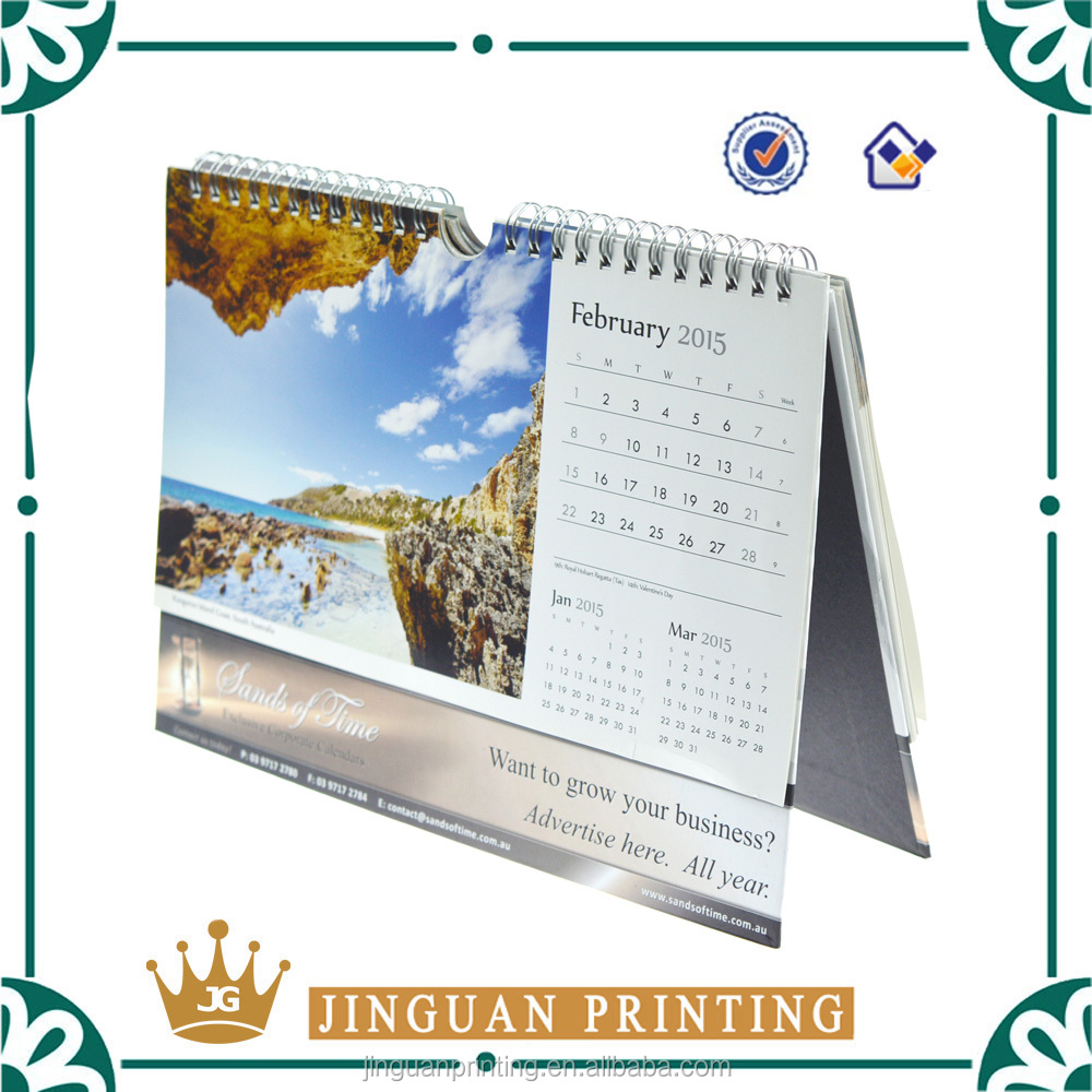 2017 Wall calendar planners design printed monthly table calendar