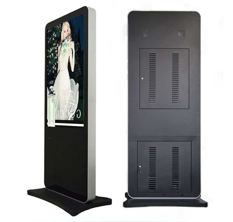 55 Inch Stand Alone Marvel Good Quality LCD Dual Screen Advertising Player