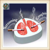 Household sundries Funny cough lung ashtray Quit smoking Ashtrays