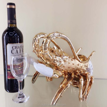 custom resin ornament lobster wine bottle holders