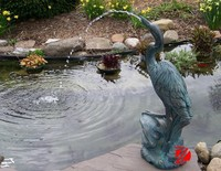 High quality brass crane water fountain for lake decor