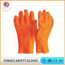 China supplier wholesale PVC safety work gloves rubber gloves with rough palm