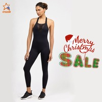 full length OEM running sports anti-pilling workout custom made womens jumpsuit