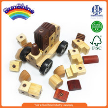 2015 New Hot Sell Wooden Train EN71 ASTAM stander Railway Train wooden train track toy Assembled e vehicle 8124
