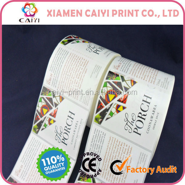 Roll Stickers, Rolls Labels, Blank or Pre-printed