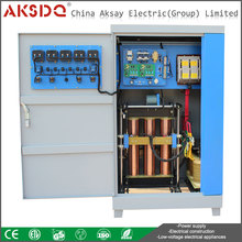 150KVA SBW 3 Phase Servo Motor Full Automatic Compensation Power Voltage Regulator or Stabilizer Equipment 380v for Hospital Use
