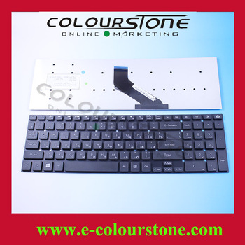 High quality laptop keyboard for NV55 NV57 RU BLACK pk130042a04