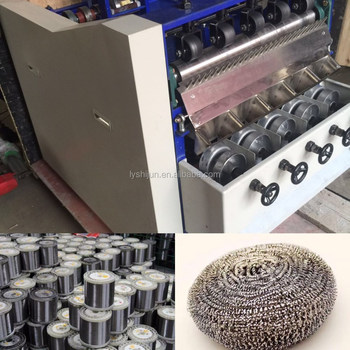 stainless steel scrubber making machine/scourer making machine/cleaning ball machine/sponge cutting machine