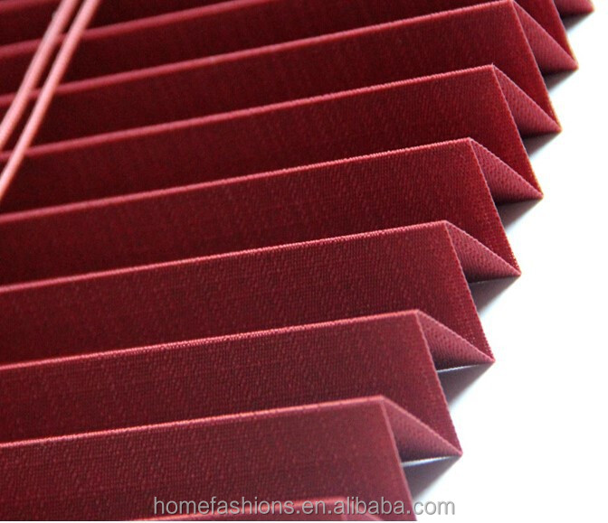Indoor mini window blinds of pleated shades