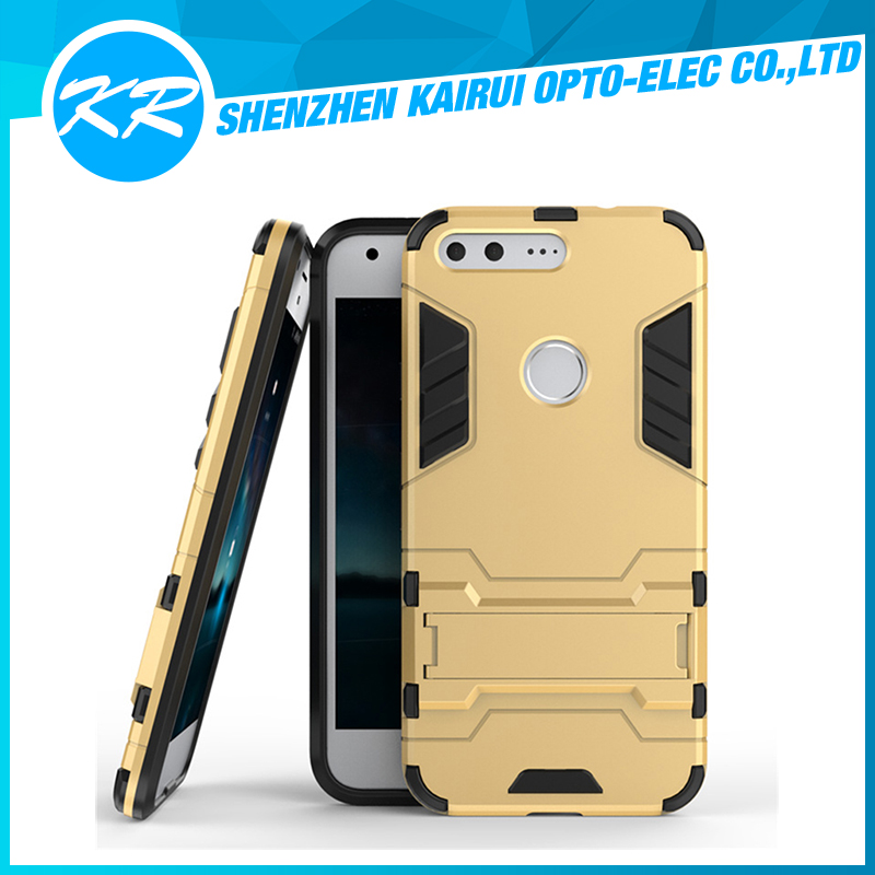 2016 new!!! 2in1 Hybrid kickstand Dual Layer Armor Protective Cover Case for Google Pixel XL 5.5 inch 2016 Released
