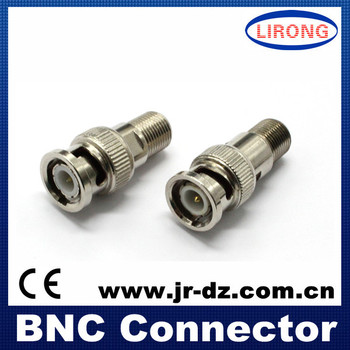 Good Quality JR cctv f to bnc connector / f to bnc connector