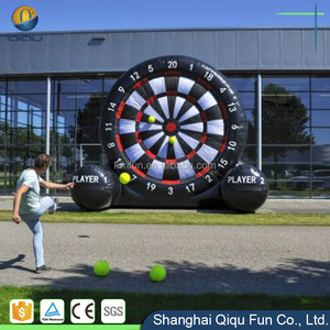 Interesting inflatable dart game, inflatable soccer dart board for sale