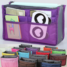 Factory Direct Promotional Bag in Bag Double Zipper Travel Washing Cosmetic Organizer Bag