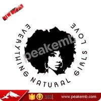 New Trend Vinyl Afro Girl Custom Heat Transfer Printing for Clothing