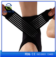 Elastic Breathable Ankle Wrist Elbow Support Wrap Bandage Brace with Straps One Piece