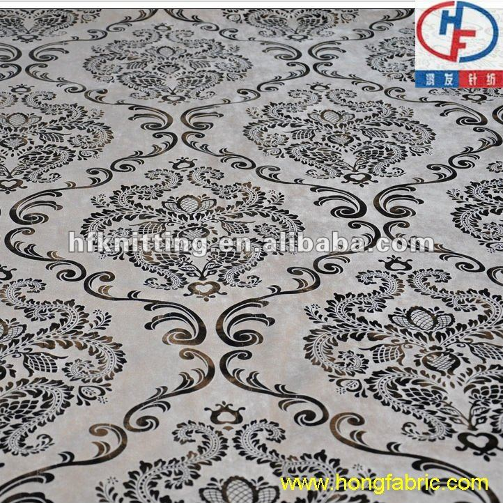 traditional chinese pattern golden bronzed sofa fabric