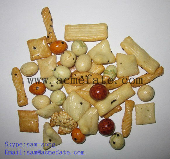 flavored rice cracker mix coated peanut