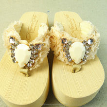WOMEN THICK SOLE SLIPPERS EVA NUDE BEACH FLIP FLOP