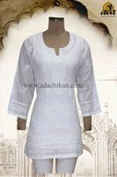 LUCKNOW CHIKAN COTTON KURTI A84909 BY ADA
