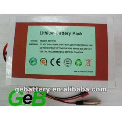 hot sale lithium ion battery electric cars 48v 20ah