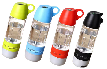 Unique Water Bottle Design IP*4 Waterproof Wireless Bluetooth Speaker Stereo Sound Dual Use Outdoor Riding Sound Box Retail Box