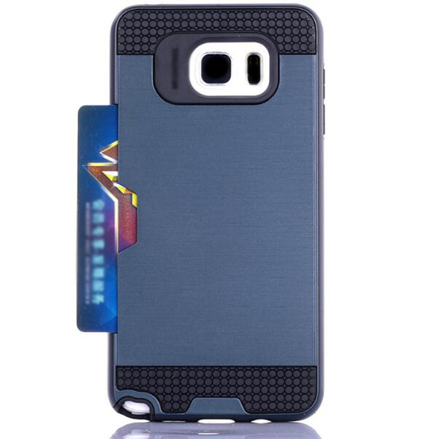 Dual Double Layer Armor Metal N5 Phone Covers Case With ID Card