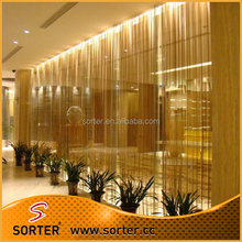 New design shimmering gold metal mesh decorative curtain